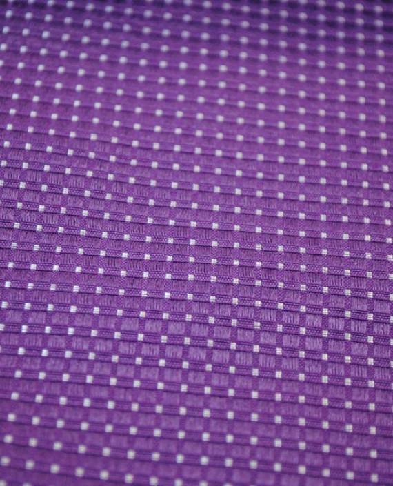 """Ткань Хлопок """"Тканый"""" 0003 цвет фиолетовый в горошек картинка 1"""