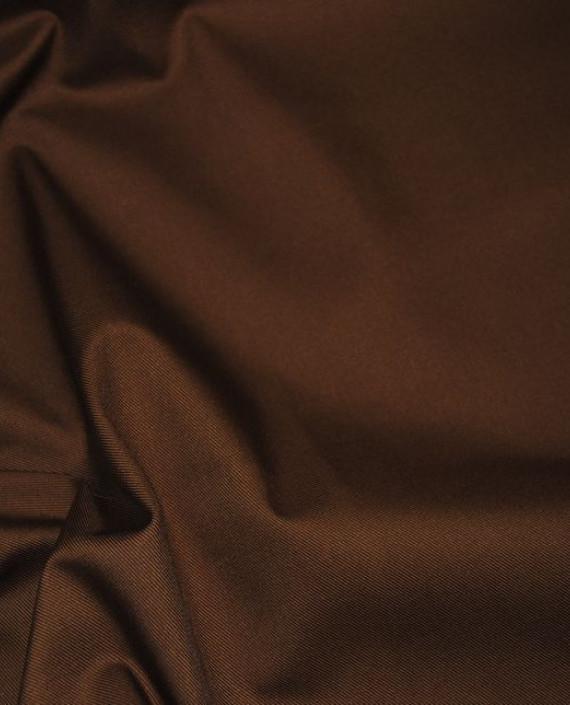 """Ткань хлопок костюмный """"Терракоторый"""" 0005 цвет коричневый картинка 2"""
