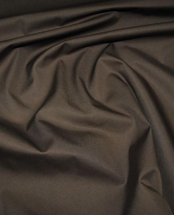 """Ткань хлопок костюмный """"Умбра"""" 0006 цвет коричневый картинка"""