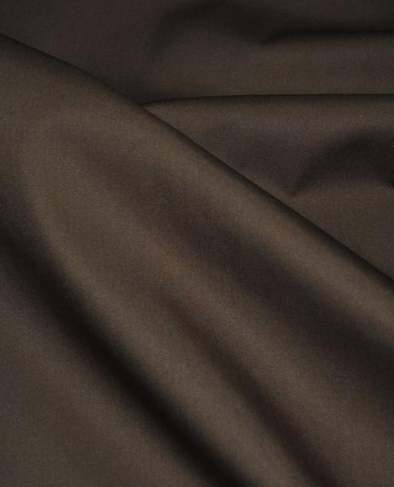 """Ткань хлопок костюмный """"Умбра"""" 0006 цвет коричневый картинка 1"""
