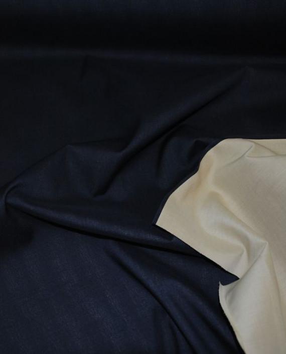 """Ткань хлопок костюмный """"Темно-синий"""" 0010 цвет синий картинка"""