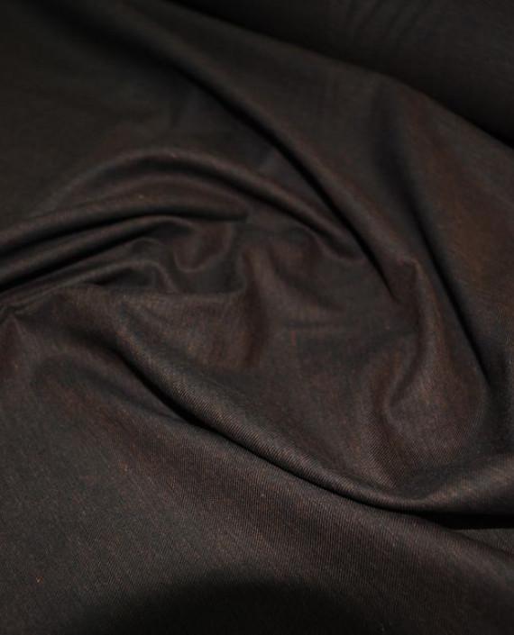 """Ткань хлопок костюмный """"Бурый"""" 0012 цвет коричневый картинка 2"""