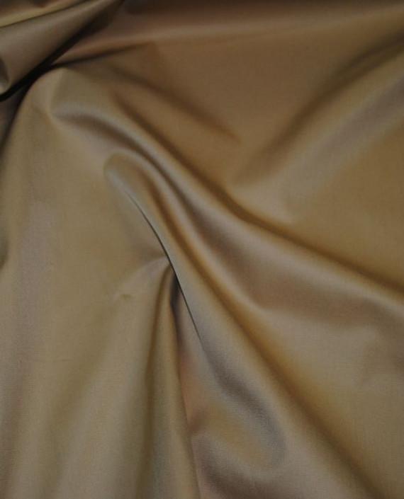"""Ткань хлопок костюмный """"Желтый и Коричневый"""" 0013 цвет бежевый картинка"""