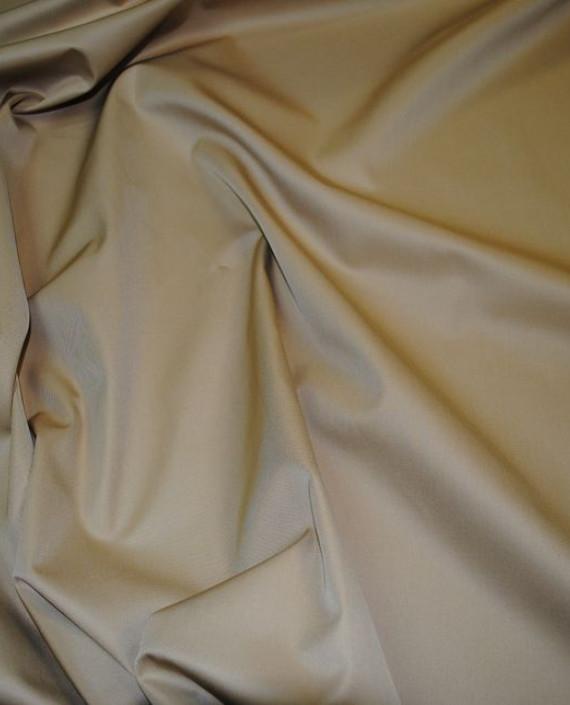 """Ткань хлопок костюмный """"Желтый и Коричневый"""" 0013 цвет бежевый картинка 1"""