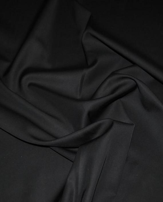 """Ткань хлопок костюмный """"Черный"""" картинка"""