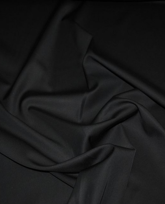 """Ткань хлопок костюмный """"Черный"""" картинка 1"""