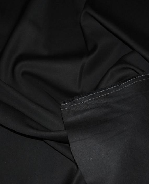 """Ткань хлопок костюмный """"Черный"""" картинка 2"""