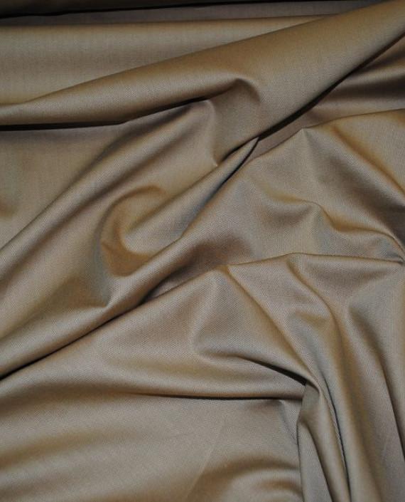 """Ткань Хлопок """"В мелкий ромбик"""" 0023 цвет коричневый картинка 1"""