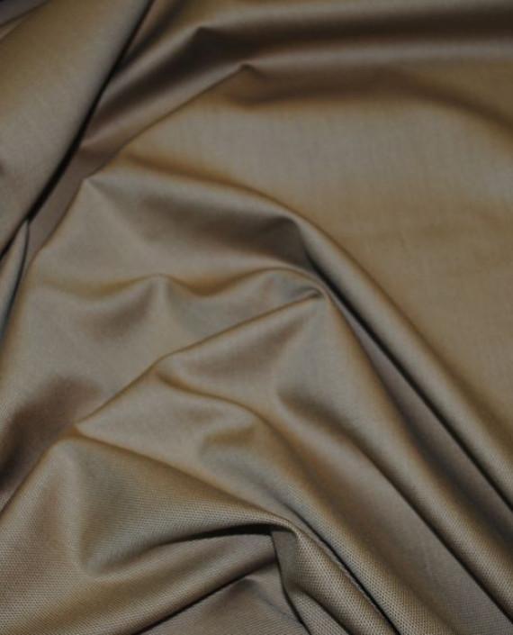 """Ткань Хлопок """"В мелкий ромбик"""" 0023 цвет коричневый картинка 2"""