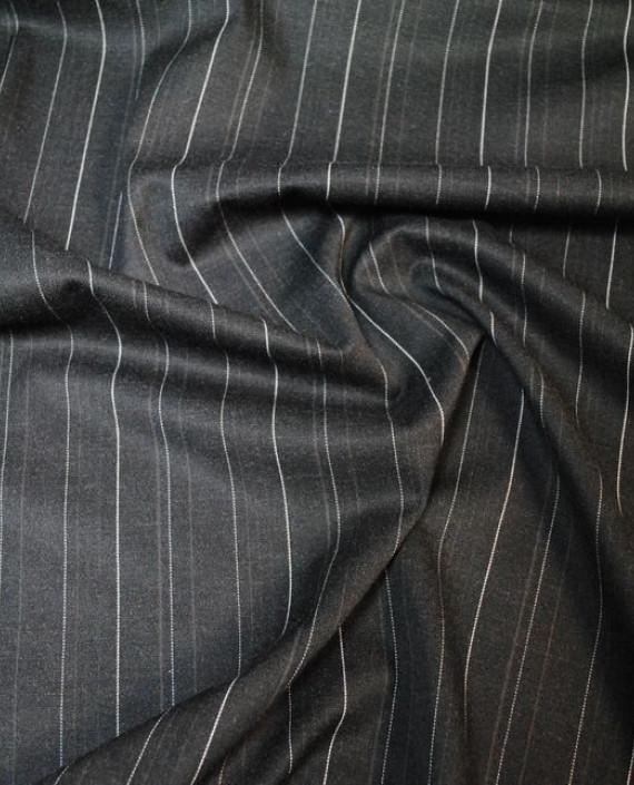 """Ткань Хлопок Костюмный """"Щирокая полоска"""" 0038 цвет серый в полоску картинка"""