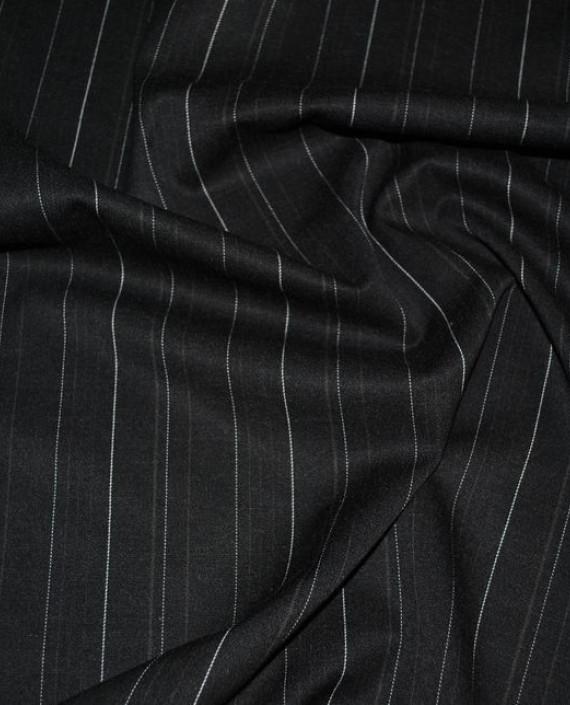 """Ткань Хлопок Костюмный """"Щирокая полоска"""" 0038 цвет серый в полоску картинка 2"""
