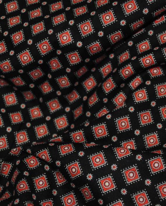 """Ткань Хлопок """"Коричневая клетка"""" 0058 цвет красный в клетку картинка"""