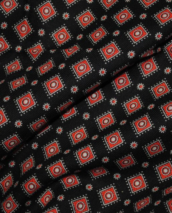 """Ткань Хлопок """"Коричневая клетка"""" 0058 цвет красный в клетку картинка 2"""