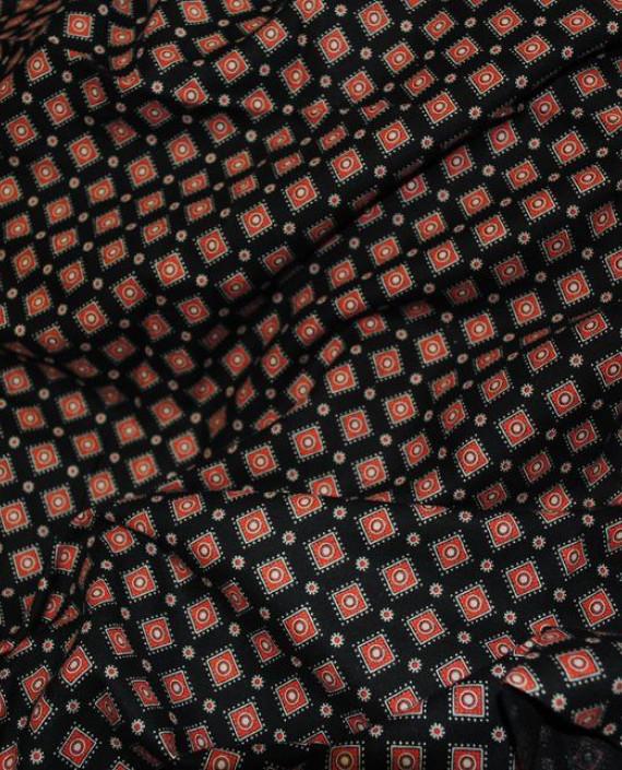 """Ткань Хлопок """"Коричневая клетка"""" 0058 цвет красный в клетку картинка 1"""