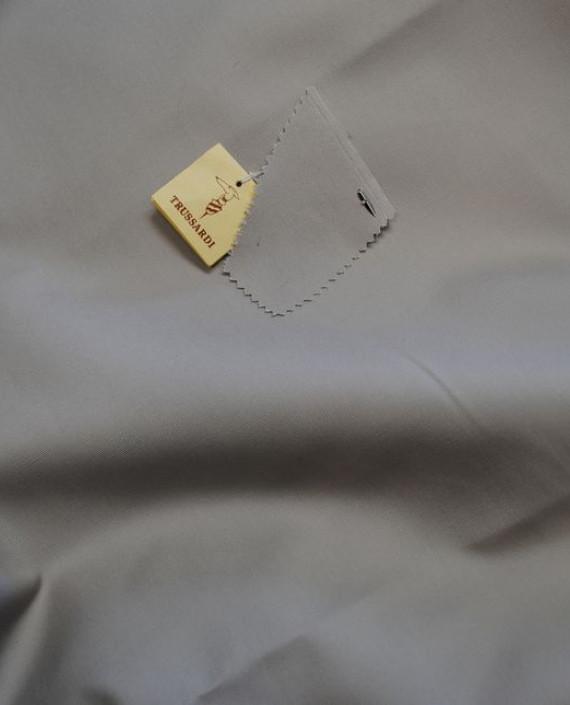 """Ткань Хлопок """"Trussardi"""" 0059 цвет серый картинка 1"""