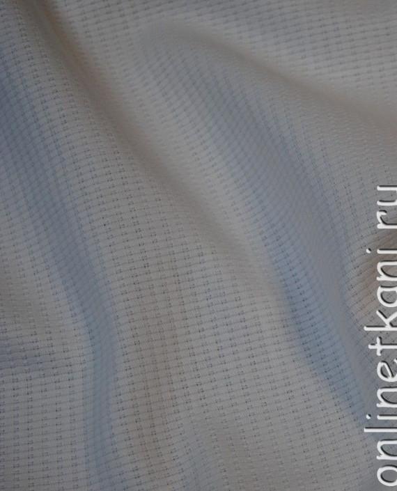 """Ткань Хлопок """"Белоснежный"""" 0061 цвет белый в полоску картинка"""