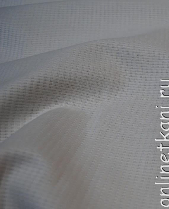 """Ткань Хлопок """"Белоснежный"""" 0061 цвет белый в полоску картинка 1"""