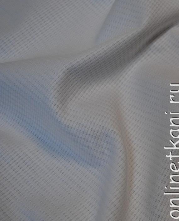 """Ткань Хлопок """"Белоснежный"""" 0061 цвет белый в полоску картинка 2"""