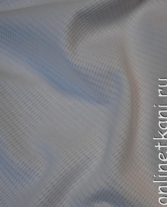 """Ткань Хлопок """"Белоснежный"""" 0061 цвет белый в полоску картинка 3"""