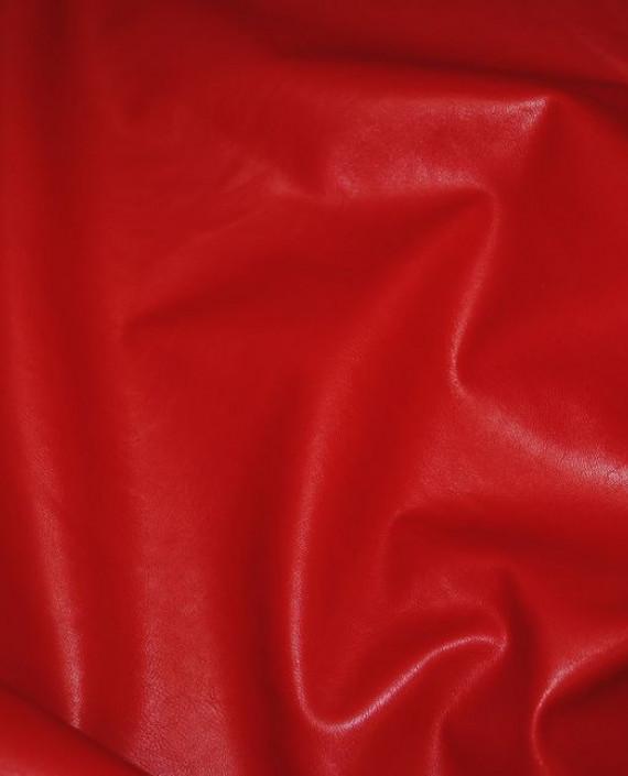 """Искусственная кожа """"Красная"""" 006 цвет красный картинка 3"""