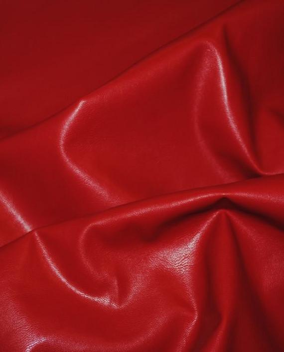 """Искусственная кожа """"Красная"""" 006 цвет красный картинка 1"""