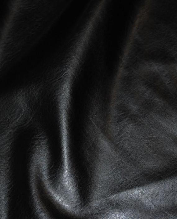 """Искусственная кожа """"Черная"""" 007 цвет черный картинка"""