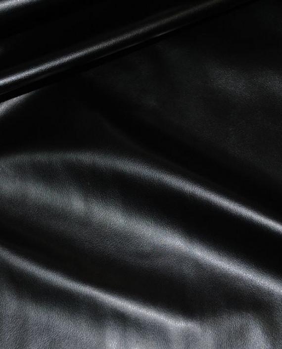 """Искусственная кожа """"Угольная"""" 011 цвет черный картинка 1"""