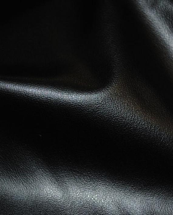 """Искусственная кожа """"Угольная"""" 011 цвет черный картинка 2"""