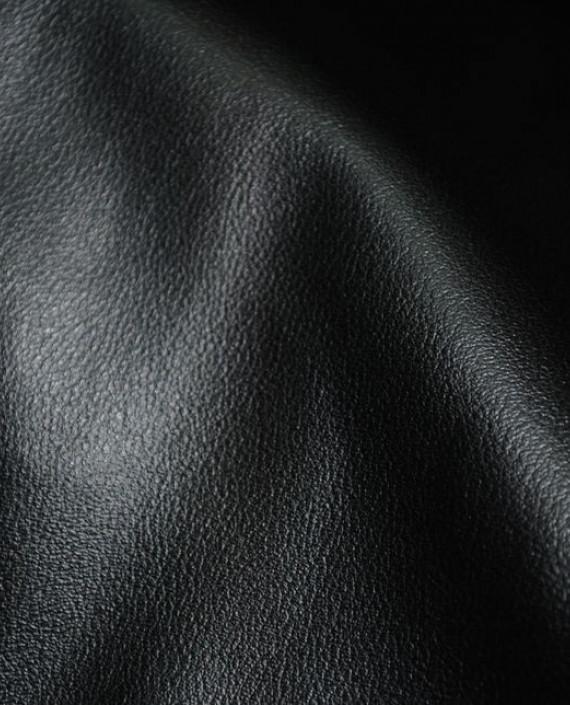 """Искусственная кожа """"Угольная"""" 011 цвет черный картинка 3"""
