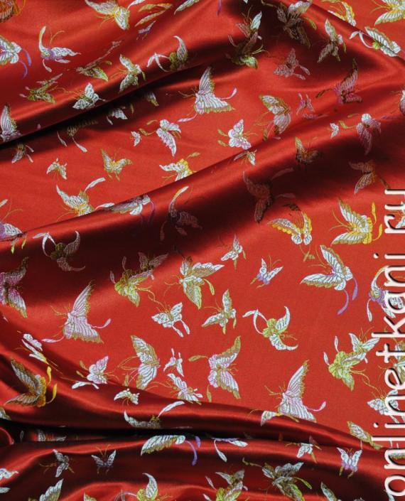 "Ткань Китайский шелк ""Алая птица"" картинка"