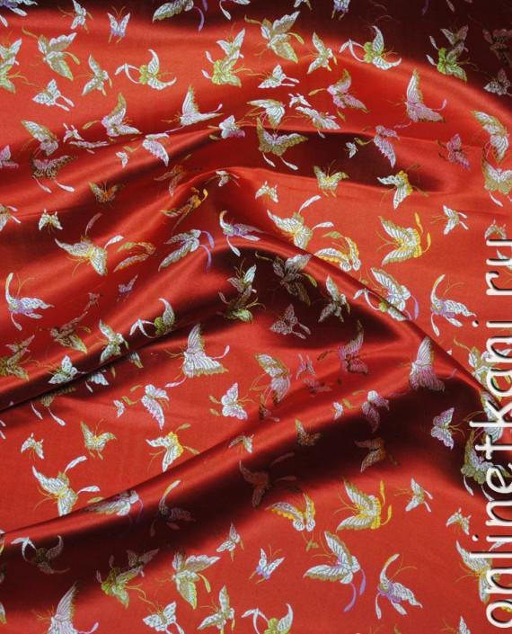 "Ткань Китайский шелк ""Алая птица"" картинка 3"