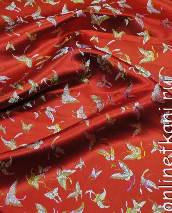"Ткань Китайский шелк ""Алая птица"" картинка 2"