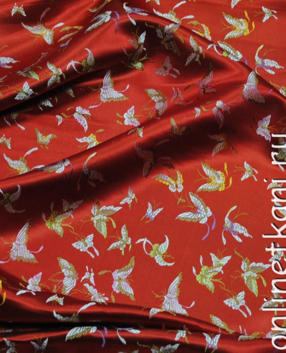 "Ткань Китайский шелк ""Алая птица"" картинка 1"