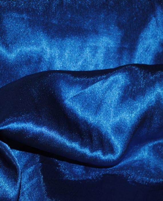 """Ткань Креп-сатин """"Кобальтовый"""" 0009 цвет синий картинка 2"""