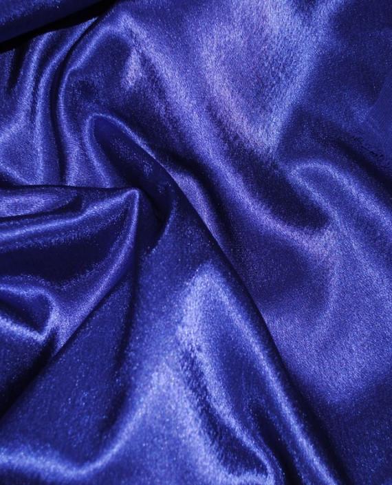 "Ткань Креп-сатин ""Ультрамарин"" 0022 цвет синий картинка 1"