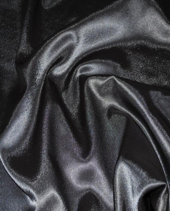 "Ткань Креп-сатин ""Черненое серебро"" 0025 цвет серый картинка"