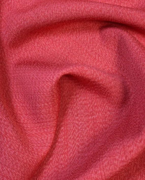 """Ткань Лен """"Кардинал"""" 5003 цвет красный картинка"""