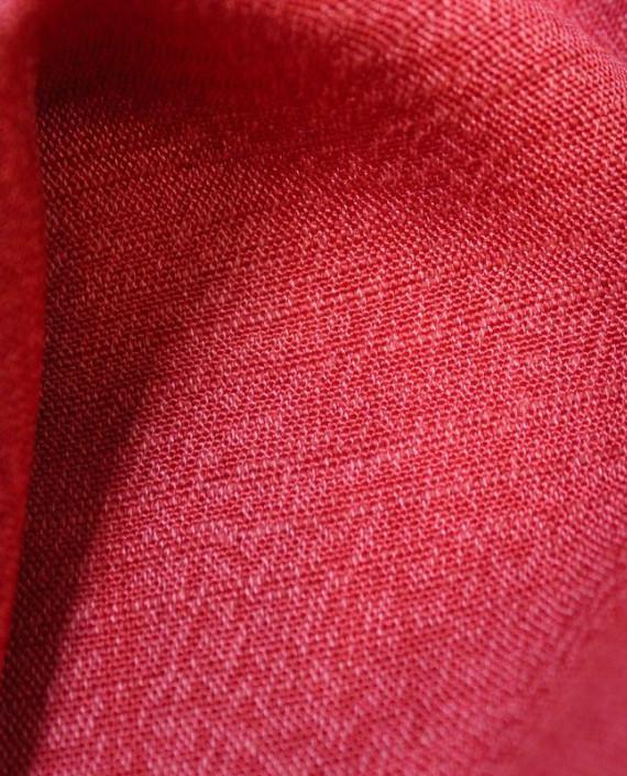 """Ткань Лен """"Кардинал"""" 5003 цвет красный картинка 2"""