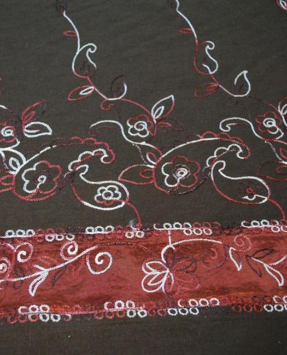 Ткань Лен «Цветочный фейерверк»  картинка 1