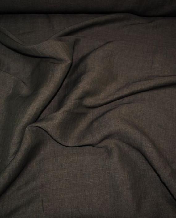 """Ткань Лен """"Грифель"""" 0017 цвет коричневый картинка"""