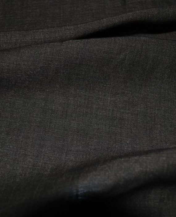 """Ткань Лен """"Грифель"""" 0017 цвет коричневый картинка 1"""
