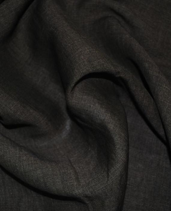 """Ткань Лен """"Грифель"""" 0017 цвет коричневый картинка 2"""