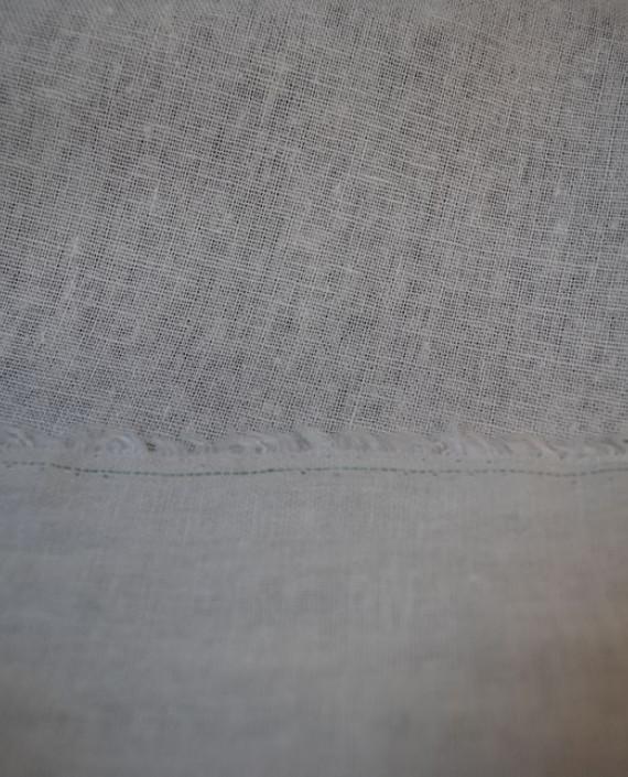 """Ткань Лен """"Белый"""" 0020 цвет белый картинка 1"""