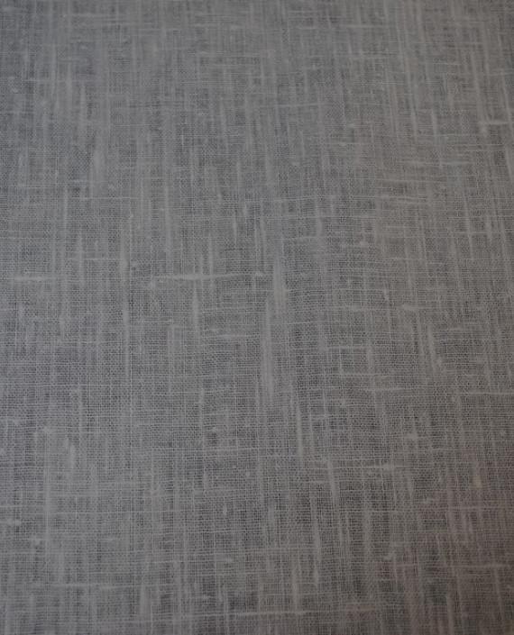 "Ткань Лен ""Белый Грубый"" 0024 цвет серый картинка 5"