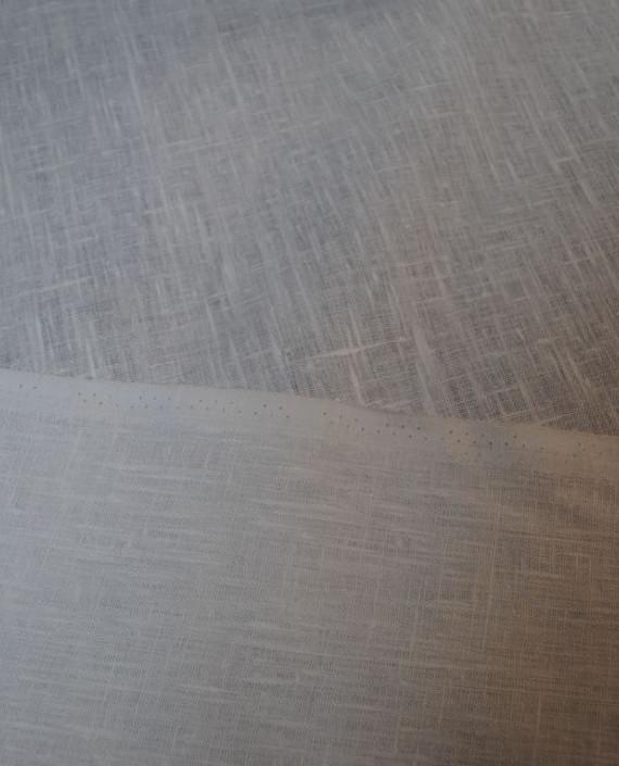 "Ткань Лен ""Белый Грубый"" 0024 цвет серый картинка 3"