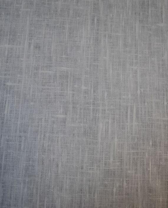 "Ткань Лен ""Белый Грубый"" 0024 цвет серый картинка 1"