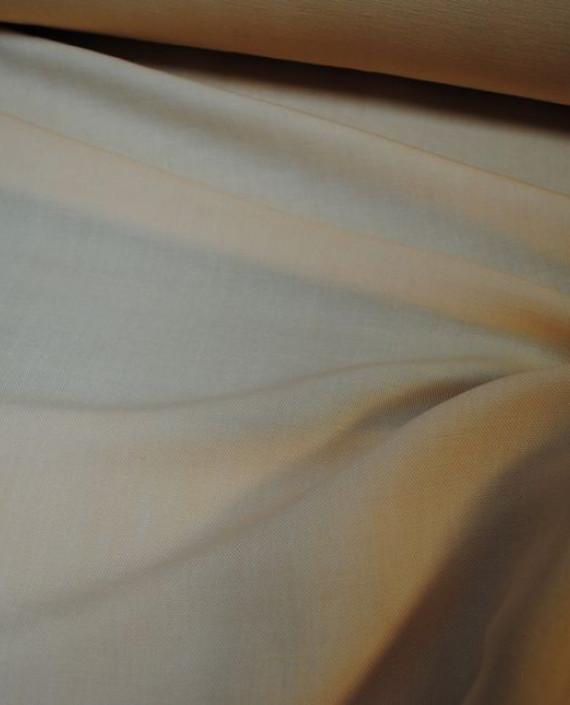"""Ткань Лен """"Персиковый"""" 0026 цвет бежевый картинка 1"""