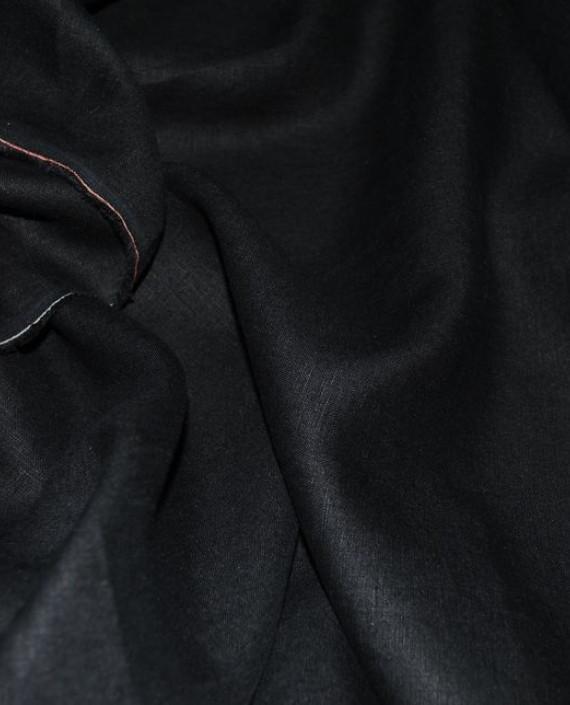 """Ткань Лен """"Черный"""" 0028 цвет черный картинка"""