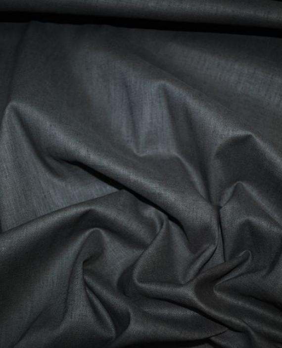 """Ткань Лен """"Антрацит"""" 0029 цвет серый картинка"""