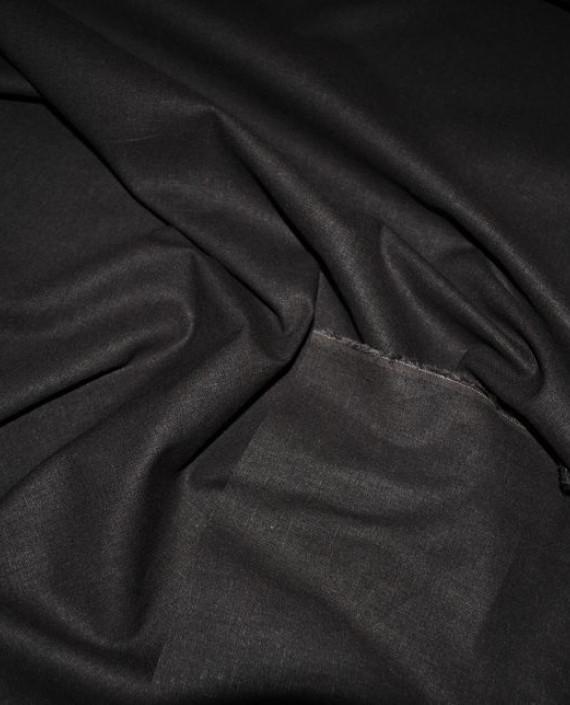 """Ткань Лен """"Темно коричневый"""" 0030 цвет коричневый картинка 2"""